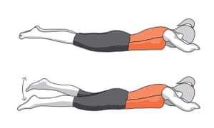 Knee exercises swimmers