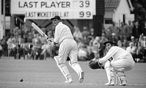 Tom Graveney batting for Worcestershire against Kent at Canterbury in 1970. Alan Knott is the wicketkeeper. Photograph: Patrick Eagar/Getty Images