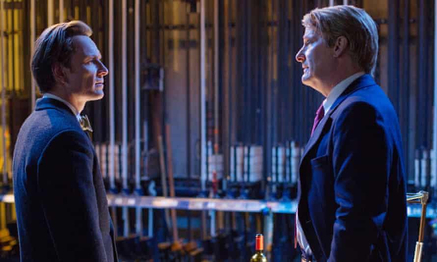 Fassbender and Jeff Daniels in Steve Jobs.