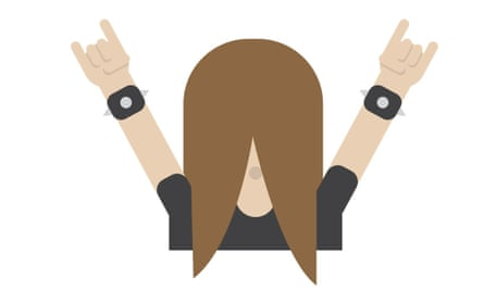 The headbanger emoji
