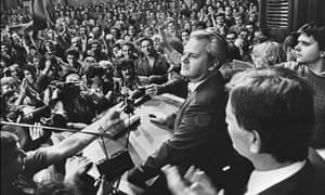 Slobodan Milosevic in a 1988 photograph from the Tanjug news agency.