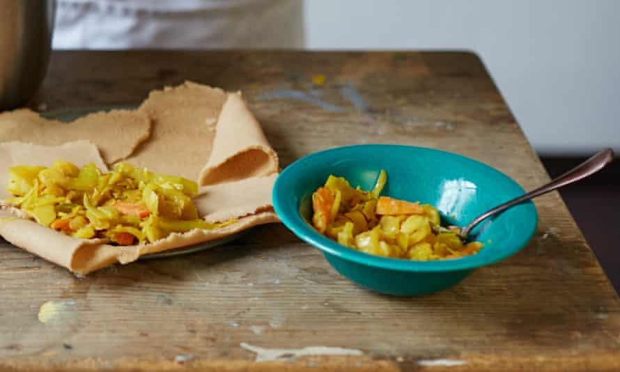 Mazi Mas Ethiopian recipe carrot, cabbage and potato