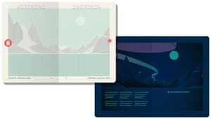 'The coolest passport in the world'? … Norway's minimalist passport features abstract landscapes that glow under UV light.