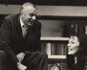 Laurence Olivier and Rachel Davies in The Party in the National Theatre production at the Old Vic.