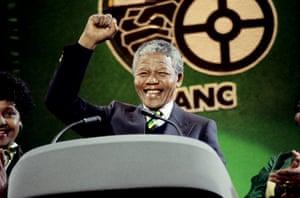 Nelson Mandela in 1990.