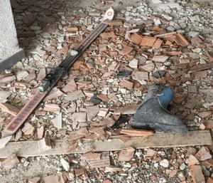 old ski boot