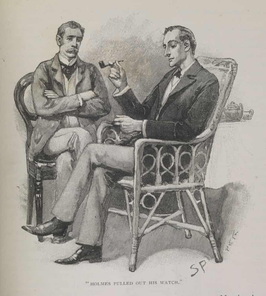 Sherlock Holmes and Doctor Watson in Strand magazine Vol 6.(1893). Photograph: Musuem of London/Museum of London