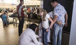 Passengers at Sharm el-Sheikh airport