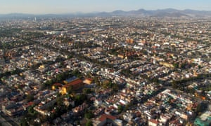An aerial view of Mexico City.