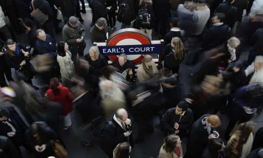 A London transport scene.