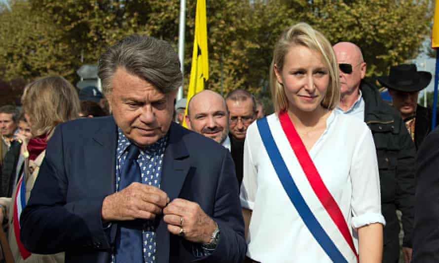 Front National candidate Marion Maréchal-Le Pen, with lawyer and National Assembly member Gilbert Co