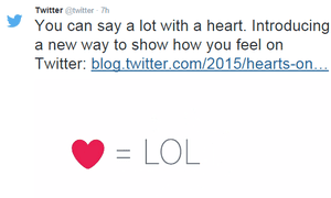 Twitter heart icon: no laughing matter?