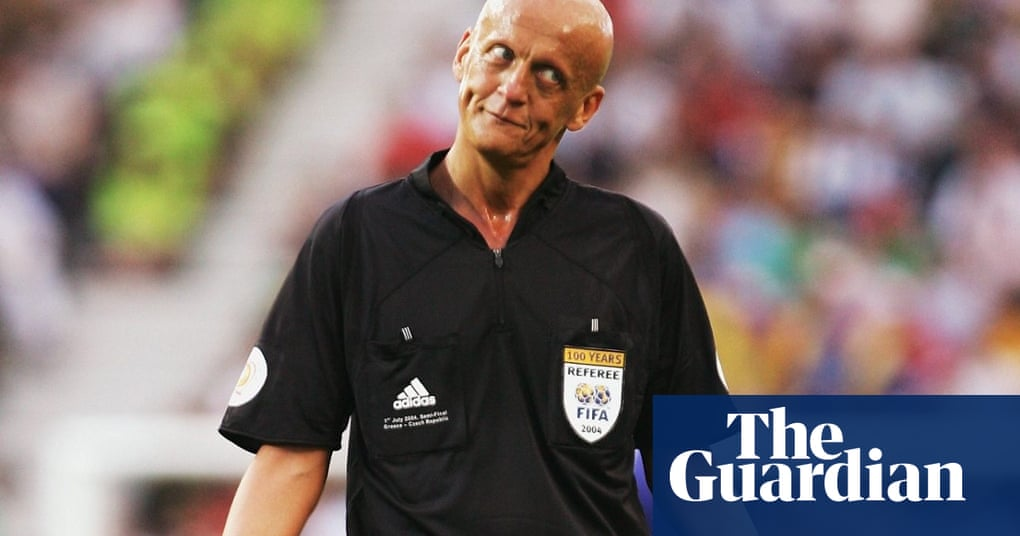 9b2305d4170 Celebrating Pierluigi Collina as the referee returns to action at Old  Trafford