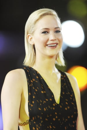 Jennifer Lawrence at the London premiere of the final Hunger Games film.