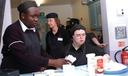 Employees on a Mencap work scheme