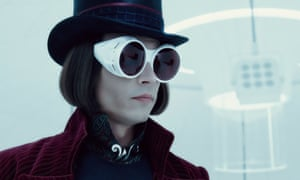 Johnny Depp as Willy Wonka in Charlie and the Chocolate Factory