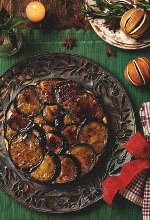 Yotam ottolenghis recipes for a vegetarian christmas life and aubergine courgette and yoghurt upside down cake forumfinder Image collections