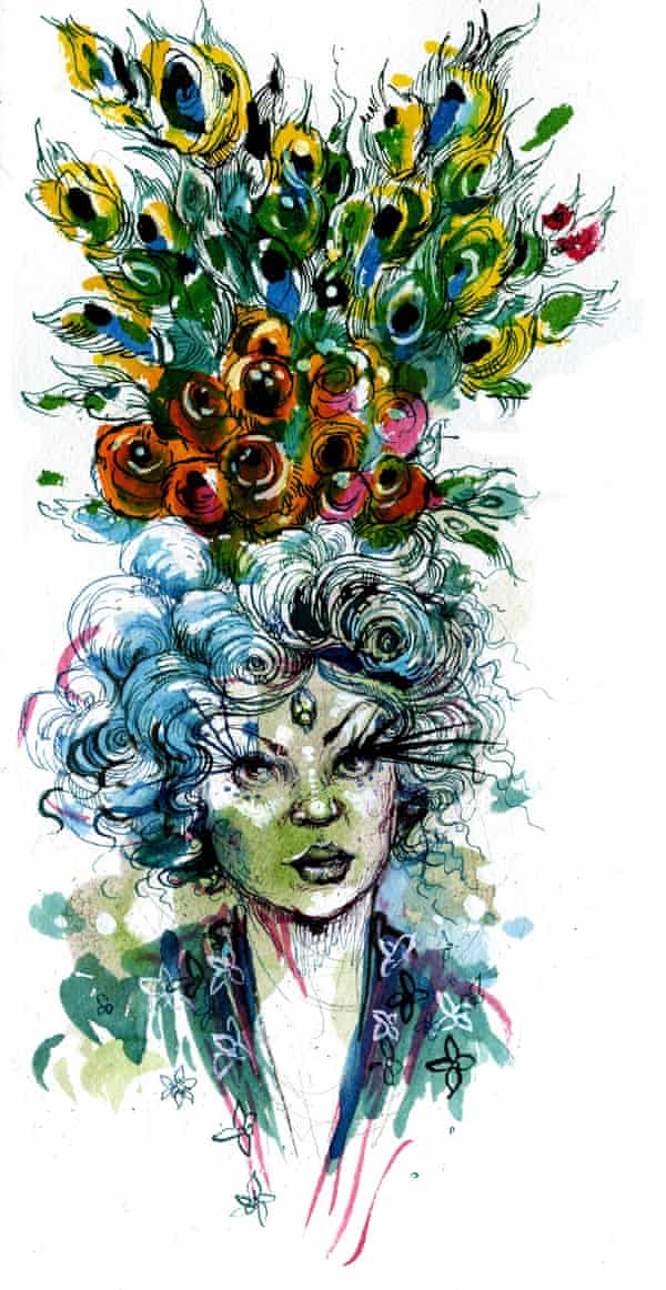 Molly Crabapple's drawing of a burlesque dancer.