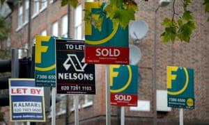 Estate agent signs London