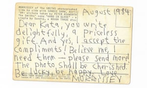 Postcard from Morrissey to Penny Pepper