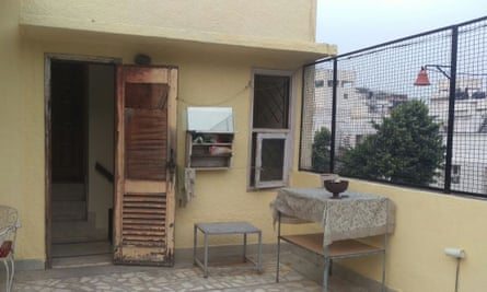 Rachit Tiwary's barsati in the middle class suburb of Greater Kailash.