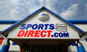 A Sports Direct store in Tamworth