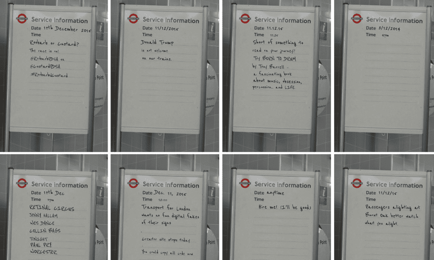 Yorkshire-based developer Tim Waters created the tool, which allowed users to create their own London Underground customer information sign.