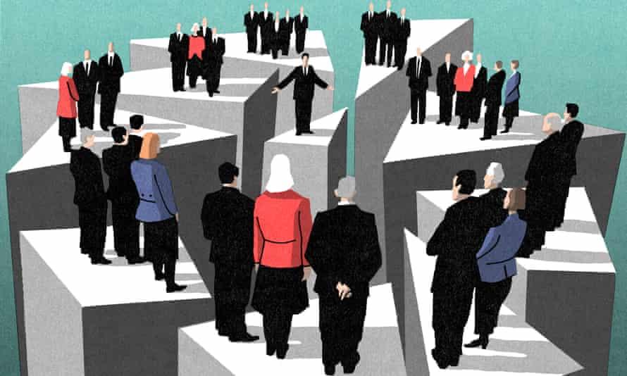 Bill Bragg's illustration on the new political elite