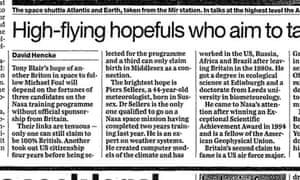 The Guardian, 9 August 1999.