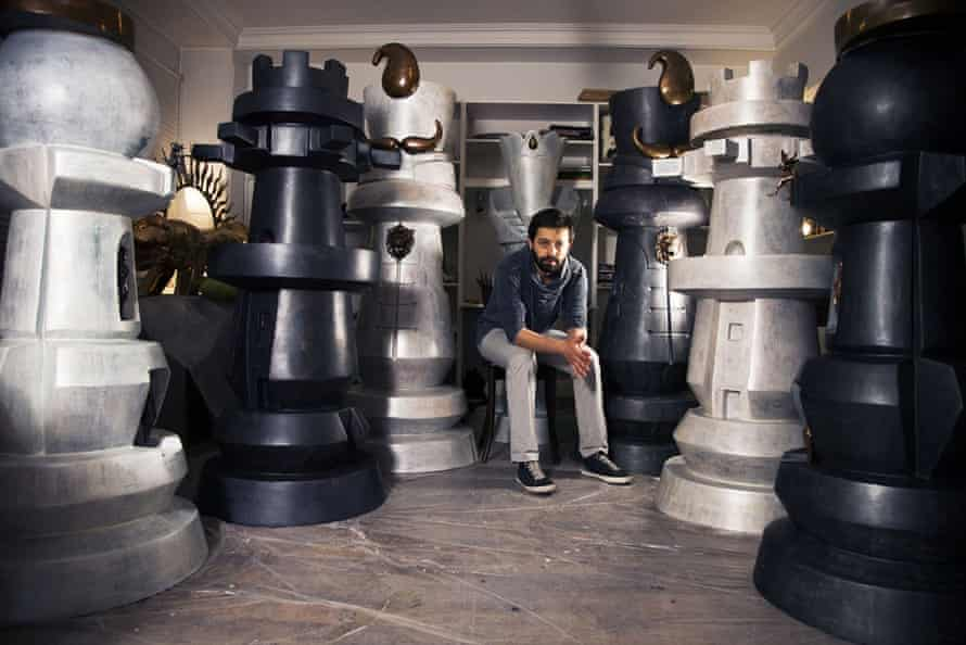 Hamed Rashtian, 31, has worked as a sculptor for a decade using a variety of materials from bronze to fiberglass. He has now turned to combining traditional Persian iconography with elements of contemporary and pop culture. He says he is also fascinated by kitsch, which has become a trend in Tehran among artists and collectors.