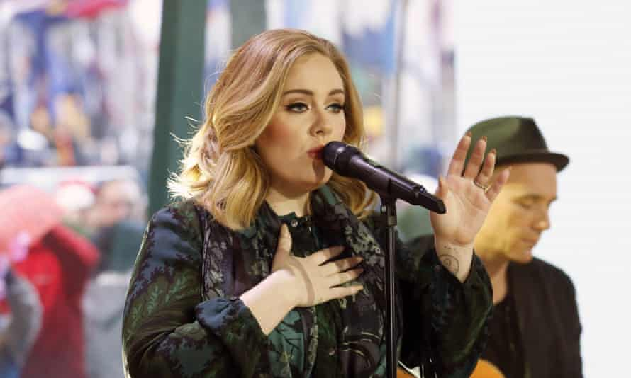 Adele performs on the Today show.