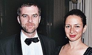 Photograph of Maya Rudolph with husband