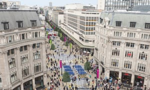Future London? A view of how a pedestrianised Oxford Street could look.