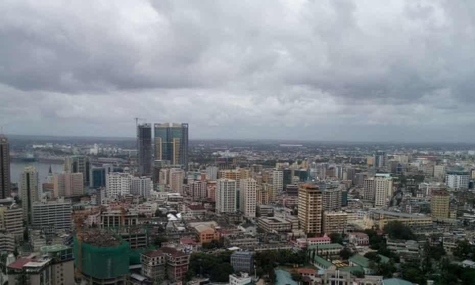 The skyline of Dar Es Salaam, literally 'residence of peace'