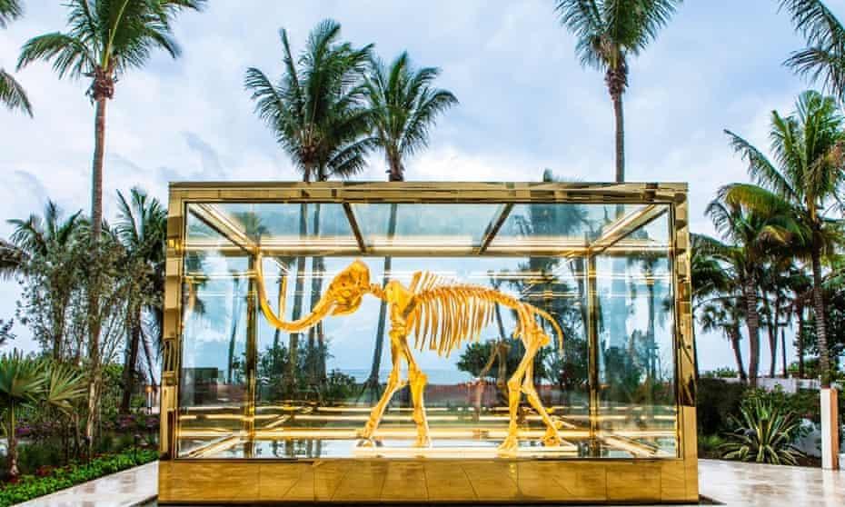 Damien Hirst's golden mammoth