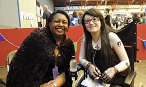Megan and Malorie Blackman at Yalc