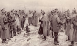 Christmas truce in the trenches, 1914 … then the war went on and on. Photograph: Alamy