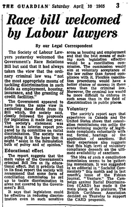 The Guardian, 10 April 1965