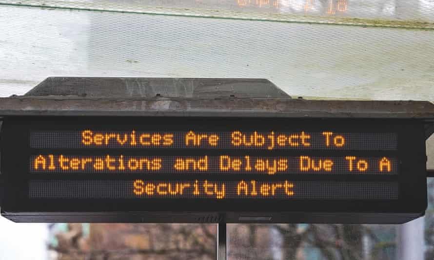 Security alert at bus stop