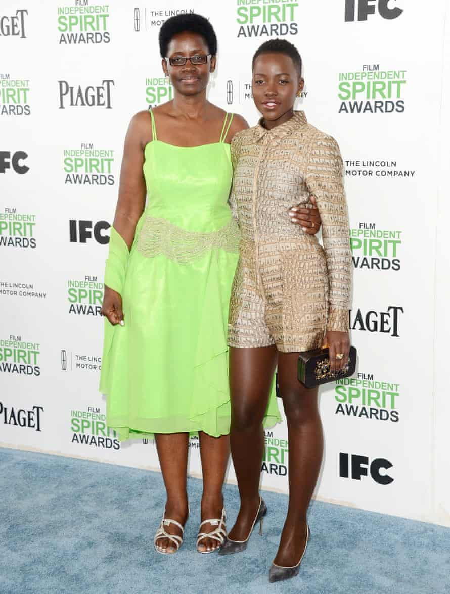 Lupita Nyong'o with her mother, Dorothy