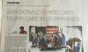 The article about Trump and Putin gets a second airing in the Russia Beyond The Headlines supplement.