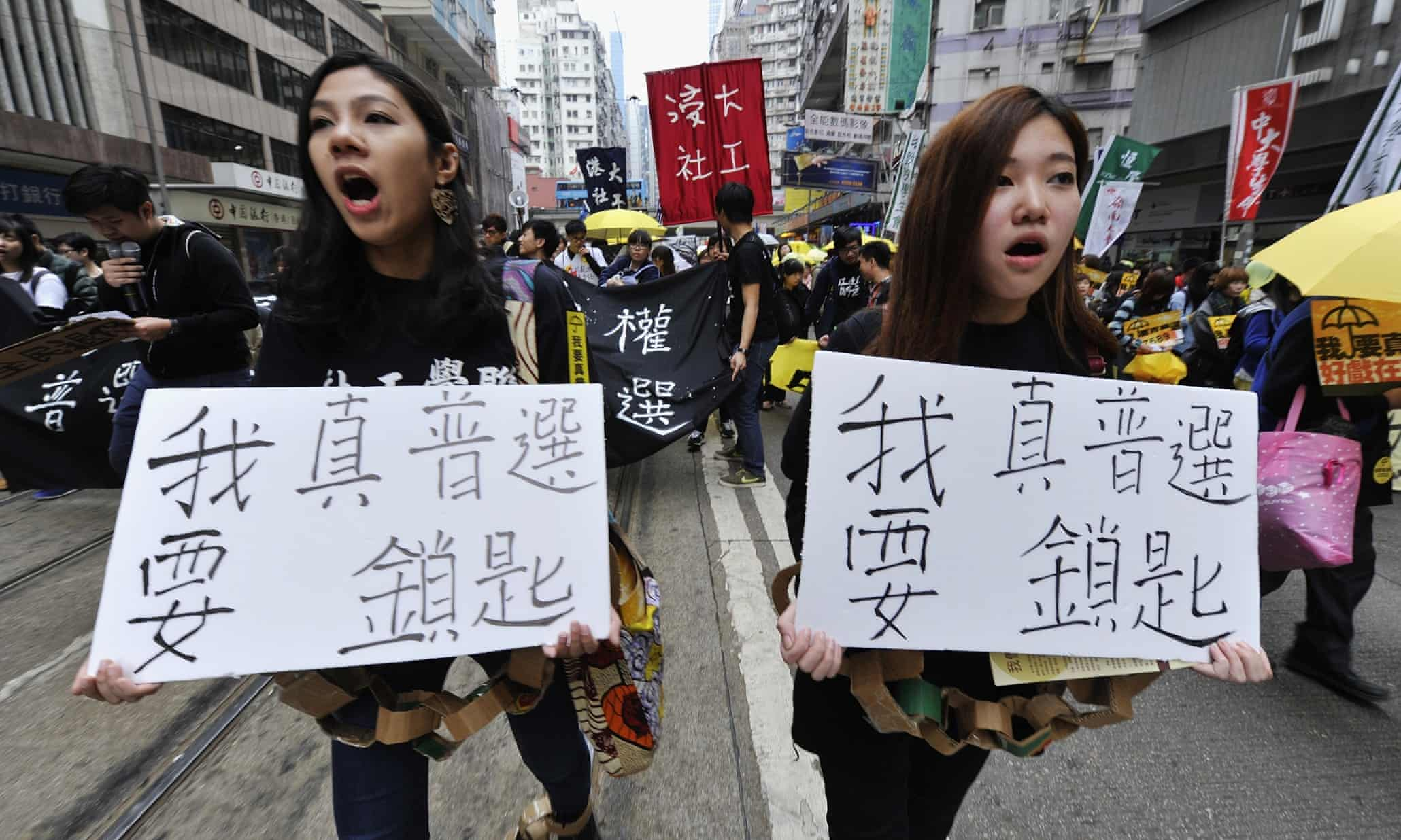 Hong Kong pro-democracy protests – in pictures