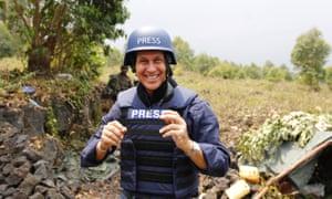 Peter Greste in action