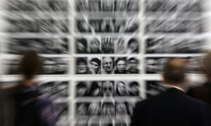 <strong>Moscow, Russia </strong>PPhotographs on display at an exhibition by participants in the Silver Camera 2014 photo contest at the city's Manezh Central exhibition hall