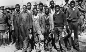 A group of young black men in Alabama in 1931