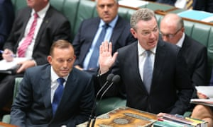 The Leader of the House Christopher Pyne during question time in the House of Representatives this afternoon, Tuesday 10th February 2015.