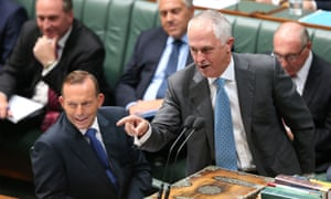 Communications minister Malcolm Turnbull fires up at the dispatch box during question time in the House of Representatives this afternoon, Tuesday 10th February 2015.