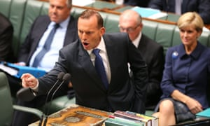 The Prime Minister Tony Abbott during question time in the House of Representatives this afternoon, Tuesday 10th February 2015.