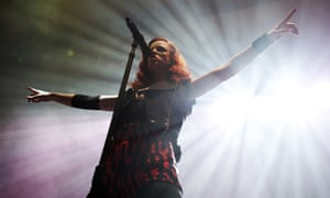 Shirley Manson of Garbage performs on stage at the Troxy