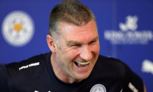 Leicester manager Nigel Pearson talks to the media on Monday afternoon.